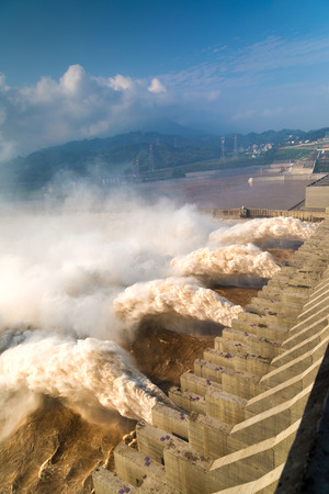 The three Gorges Dam 版權商用圖片
