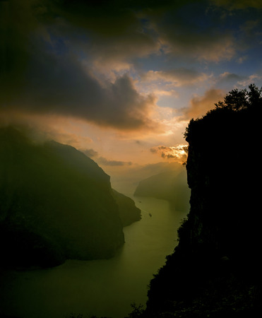 xiling gorge: Three Gorges of Xiling Gorge Stock Photo