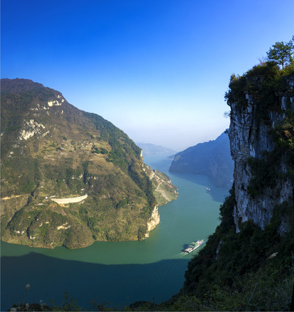 gorges: Three Gorges of Xiling Gorge Stock Photo