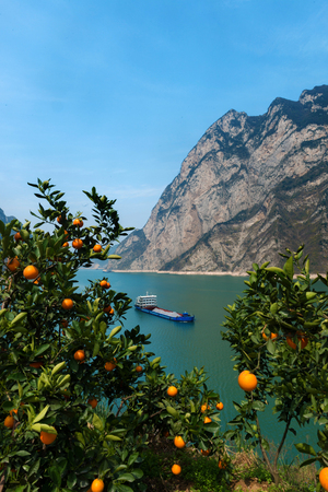 three gorges: Three Gorges of Xiling Gorge Stock Photo