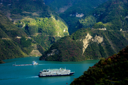 Three Gorges of Xiling Gorge Banco de Imagens