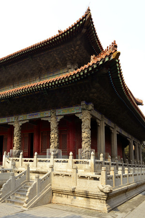 Facade of the Dacheng Hall in Temple of Confucius, Qufu 報道画像