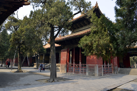 People at the Temple of Confucius, Qufu