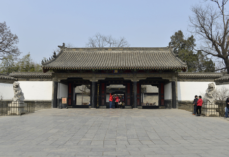Exterior view of traditional Chinese architecture Editorial