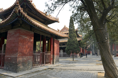 Traditional Chinese architectures in Temple of Confucius, Qufu Editorial