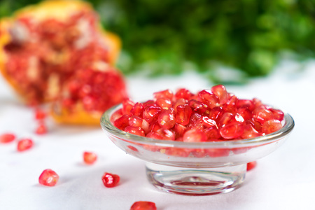 receptacle: pomegranate Stock Photo