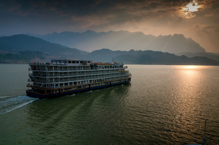 Cruise traveling in the Yangtze River Editorial