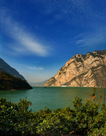 three gorges: The Three Gorges of the Yangtze River