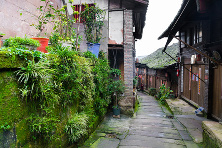 Street in a rural village