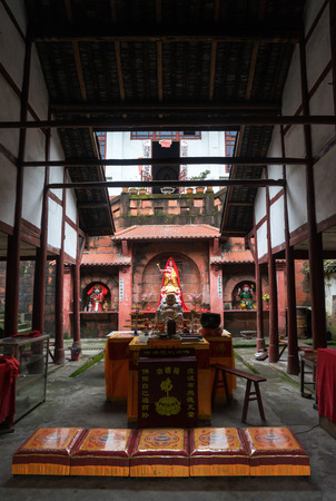 Chinese temple in a village