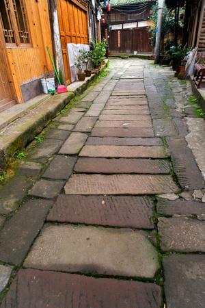 Bricks path in a rural village
