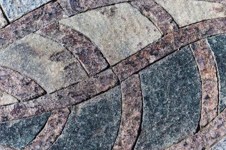 granite park: granite  mosaic maroon-black element in the park