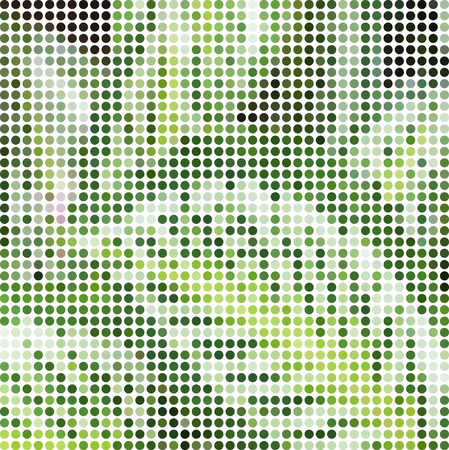 tropical plant: a mosaic of pictures of a tropical plant leaf