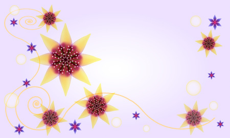 starlike: abstract floral background for greeting card with star-like flowers Illustration