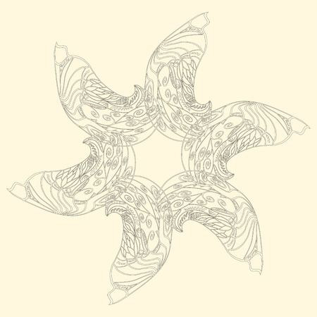 starlike: star-like ornamental pattern from colored doodle elements