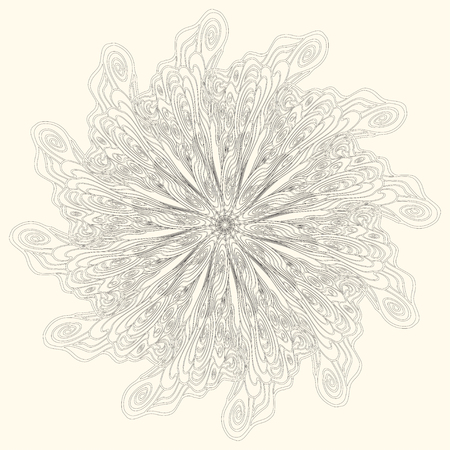 asian and indian ethnicities: abstract ornamental pattern  from spiral doodle elements