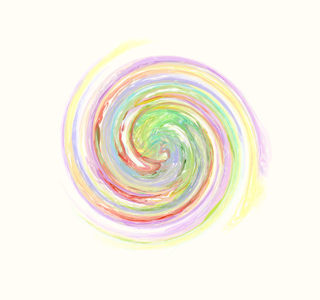 beautiful multicolored rainbow spiral pattern Illustration