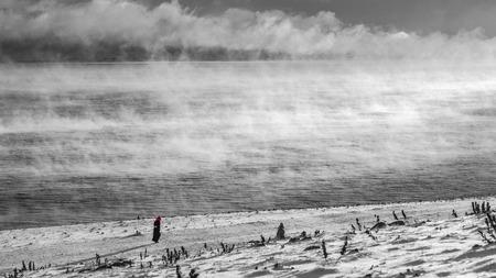 gules: highland scenery in black & white