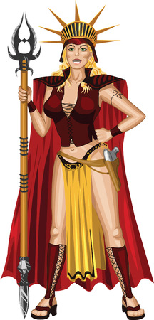 fantasy warrior: Woman warrior in fiction style
