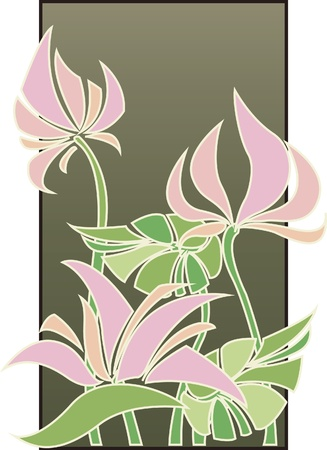 flower decoration:  Flowers composition in Art Deco style