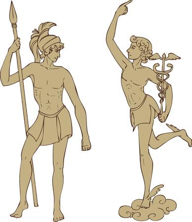 toga: Antique dei Marte e Hermes in stile classico