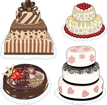 Clip art set of cakes