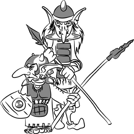 Two funny goblins  Vector