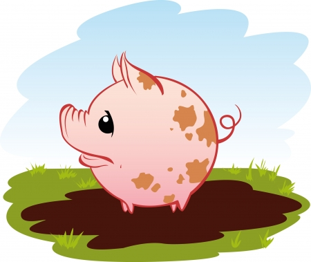 Little pog in a puddle Vector