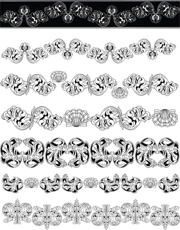Floral ornaments lineart Stock Vector - 14355505