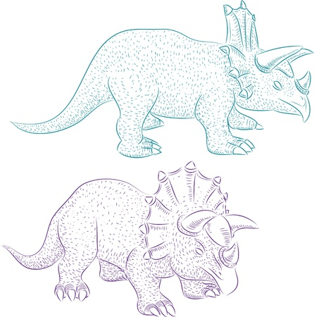 Dinosaur triceratops realistic sketch Stock Vector - 15974040