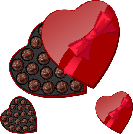 143 Heart Shaped Chocolate Box Stock Illustrations, Cliparts And ...