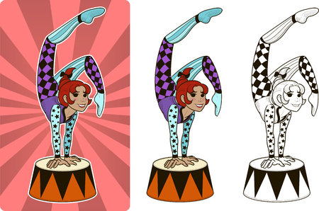 Timer circus character female