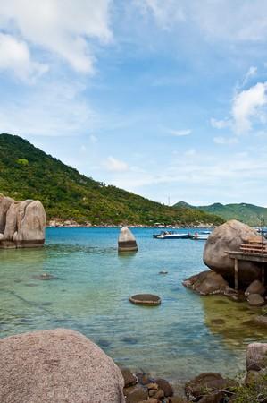 Koh Tao, Nangyuan Island of Thailand Stock Photo