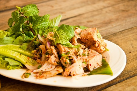 Spicy tuna salad in Thai style