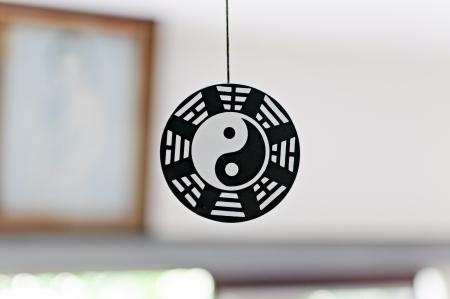 Floating Yin-Yang wood crest.