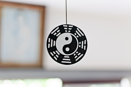 trigram: Floating Yin-Yang wood crest.