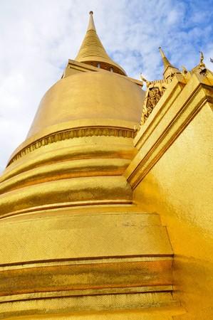 golden pagoda in Thailand.