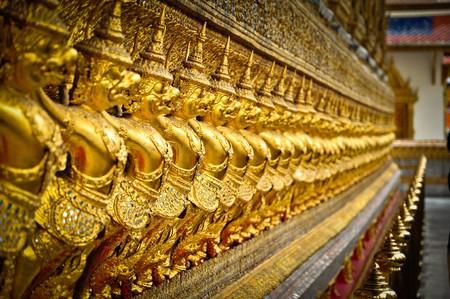 Golden garuda in Thai temple.