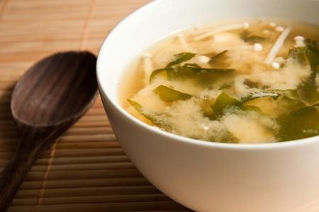 Japanese miso soup Stock Photo