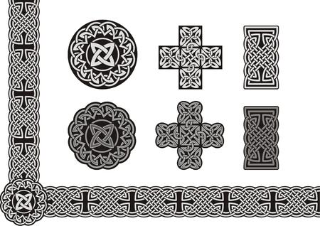 Celtic tied knot art Vector Illustration