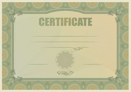 empty frame: Certificate or coupon template
