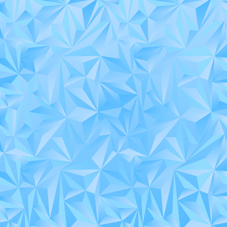 crystal background: Crystal ice triangles blue background