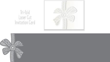 Invitation Card taglio del laser. modello laser-cut per la carta di nozze invito. Wedding modello di busta di invito.
