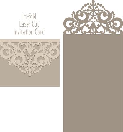 結婚式の招待カードのレーザー カット招待カード レーザー切削パターン。