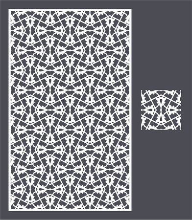 Laser cut vector panel and the seamless pattern for decorative