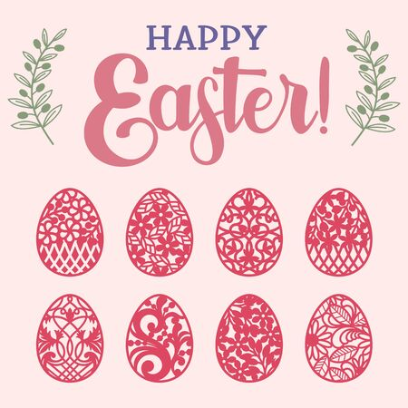 Easter Egg Bundle - Easter Egg Cut Files - Happy Easter