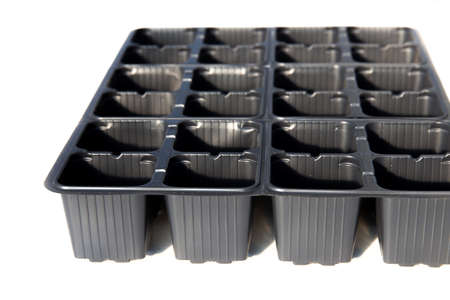 Black plastic seedling cassettes for vegetable crops