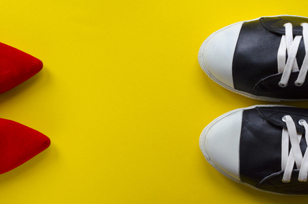two pairs of shoes Stock Photo