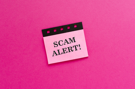 scam alert on sticker Reklamní fotografie