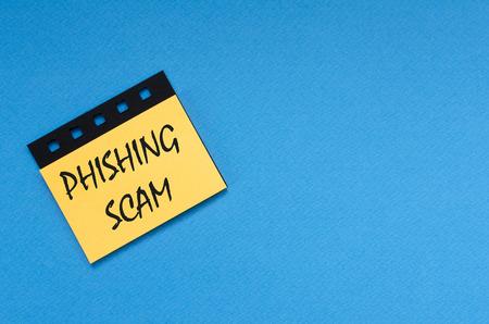 phishing scam on sticker